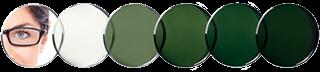 Lentes Transitions Verde Grafito